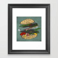 Vinyl burger Framed Art Print