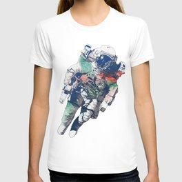 Clavius: RGB | lonely astronaut in the space T-shirt