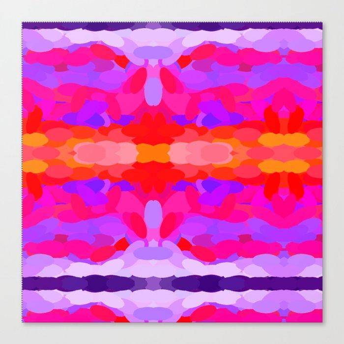 Purple, pink and orange tie dye Canvas Print