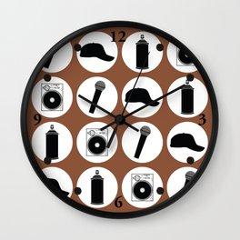 4 Elements Of Hip-Hop Wall Clock
