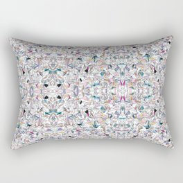 Geometricly Speaking Rectangular Pillow