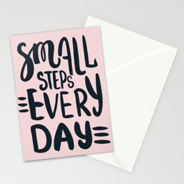 Small steps everyday Stationery Cards
