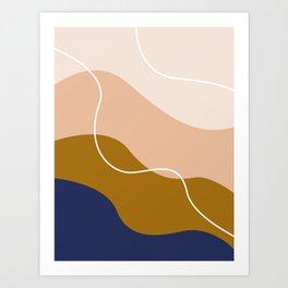 modern chic pattern Art Print
