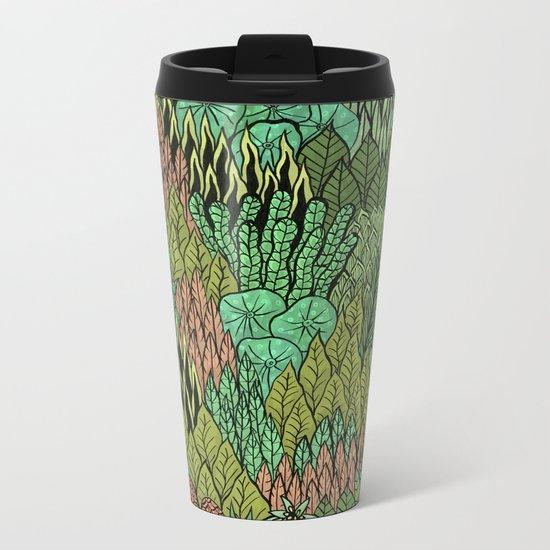 April Leaves Metal Travel Mug