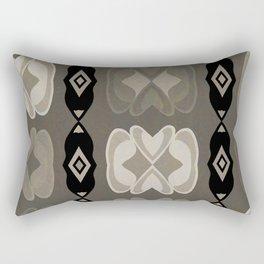 Hearts and Diamonds Pattern Rectangular Pillow