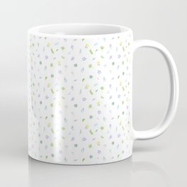 Watercolor Flower and Leaf on White. Small Floral Doodles Spring Pattern Coffee Mug