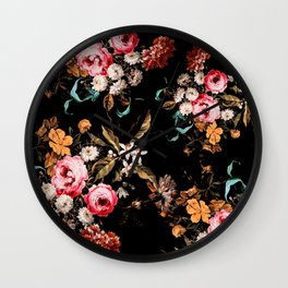 Midnight Garden IV Wall Clock