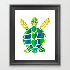 Turtle Love Framed Art Print