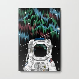 Stare into the Cosmos Metal Print