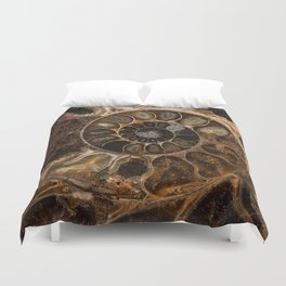 Earth treasures - Fossil in brown tones Duvet Cover