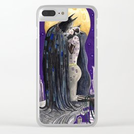 Moonlight Kiss Clear iPhone Case