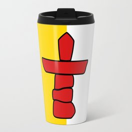 Flag of Nunavut - High quality authentic version Travel Mug