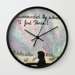 Silence is peace Wall Clock