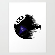 Damaged Magic 8 Ball Art Print