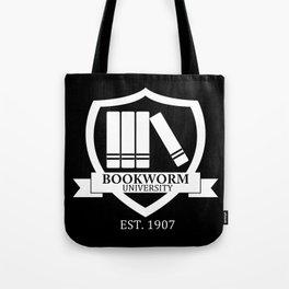 Bookworm University - Inverted Tote Bag