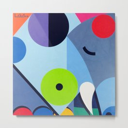 Elephant - Paint Metal Print