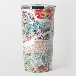 Boston map portrait Travel Mug