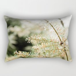 Tiny Droplets Pine Tree, Ardennes, Wallonia, Belgium - Travel Nature Photography Rectangular Pillow