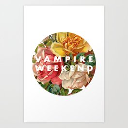 Vampire Weekend vintage flowers Art Print