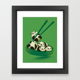 Panda Dumpling Framed Art Print