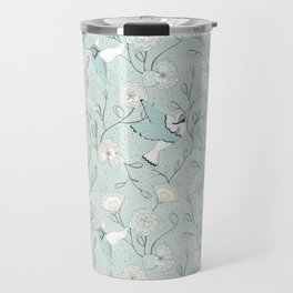 Honey Birds Chinoiserie Floral Travel Mug