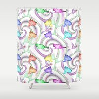 kittens Shower Curtains featuring Lollipop Kittens by FarrellArt
