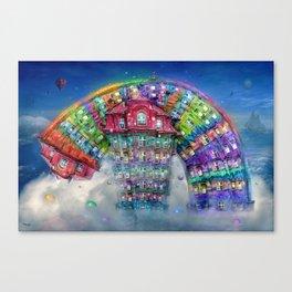 The Rainbowhouse ! Canvas Print