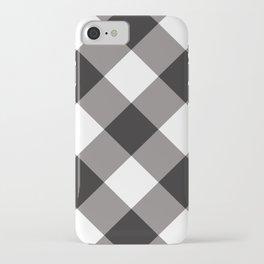 Gingham - Black iPhone Case