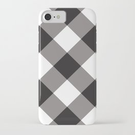 Gingham - Black iPhone Case