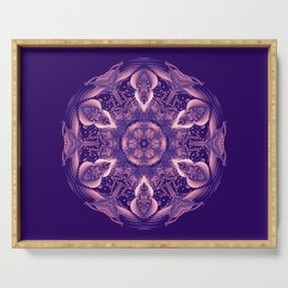 Ultra Violet Coral Mandala Trendy Color of the year 2018 Serving Tray