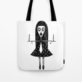 Girl with candels Tote Bag