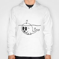 moby Hoodies featuring Moby Skull by Stephan Brusche