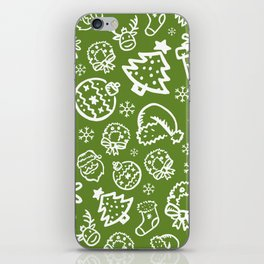 XMAS Green Pattern / Part One iPhone Skin