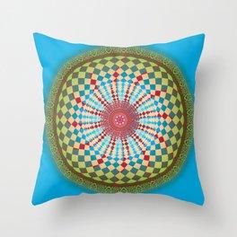 Health Mandala - מנדלה בריאות Throw Pillow