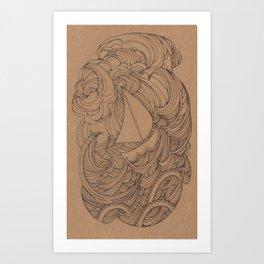 Little Ship Art Print
