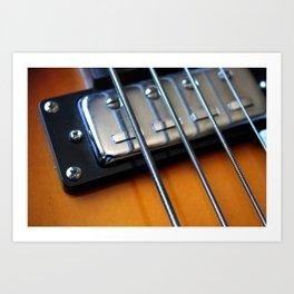 Bass Guitar Strings Art Print