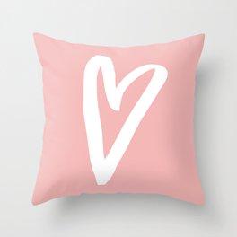 Heart Doodle Big 4 Throw Pillow