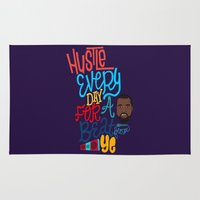 hustle Area & Throw Rugs featuring Ye Hustle by Chelsea Herrick