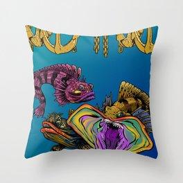 SARCASTIC FISH Throw Pillow