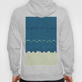 Blue Yellow Abstract Ocean Wave Pattern Hoody