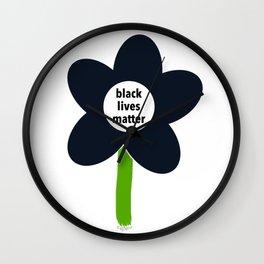 Black Lives Matter - BLM Flower img1 Wall Clock