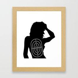 Female Human Shape Target Framed Art Print