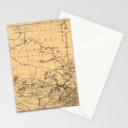 Map Of Canada 1762 Stationery Cards