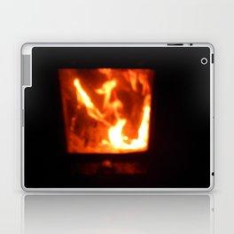 Bath sauna is steamied in a wooden house Laptop & iPad Skin