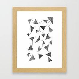 Triangle Barf Framed Art Print