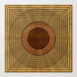 """Golden Circle Japanese Vintage"" Canvas Print"