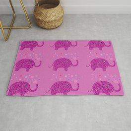 Elephant Pattern Rug