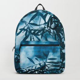 Olive tree leaves silhouette summer blue Backpack