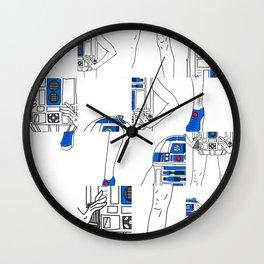 Robot Girl Cubism Wall Clock