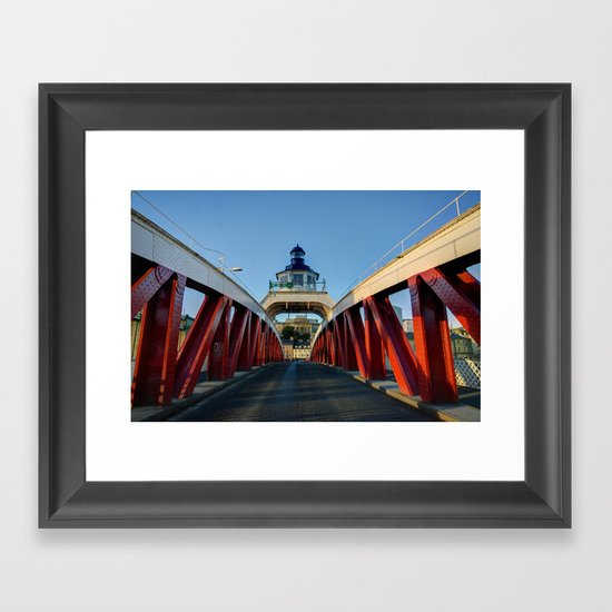 Low Level Bridge Framed Art Print